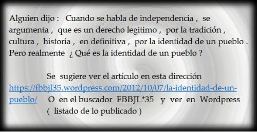 La identidad de un pueblo #FBBJL