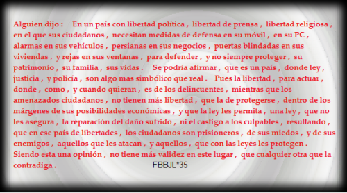 Libertad y seguridad #FBBJL
